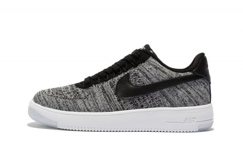 nike air force 1 low flyknit czarne