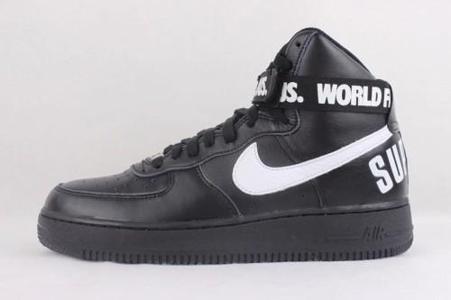 nike air force 1 supreme hi białe/czarne
