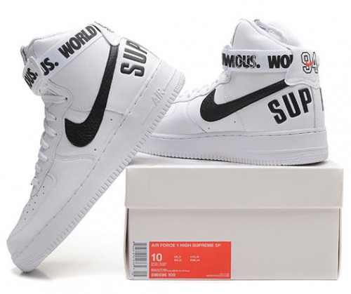 nike air force 1 supreme białe