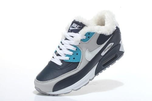 Nike Air Max 90 Winter CzarneSzareNiebieskie