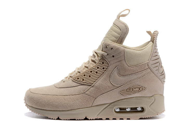 Nike Air Max 90 Sneakerboot Winter Suede All Rice White 684714 021