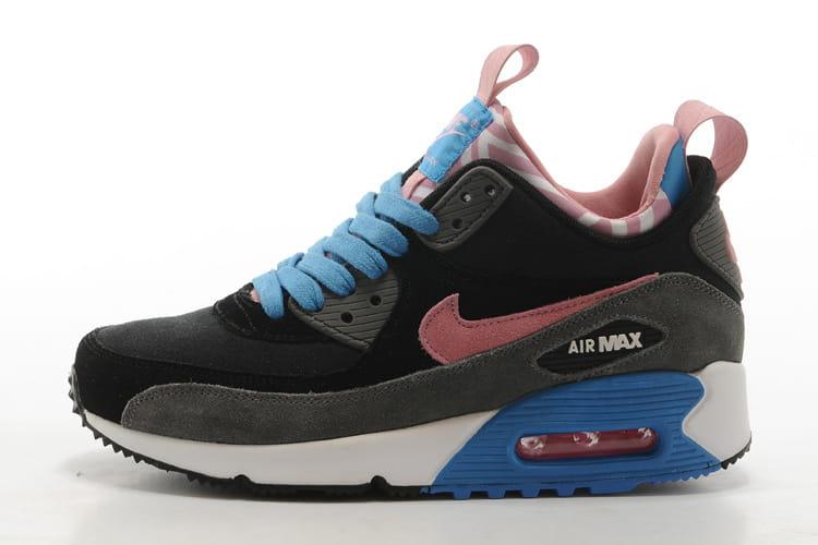 Nike Air Max 90 Mid Winter NiebieskieRóżoweCzarne