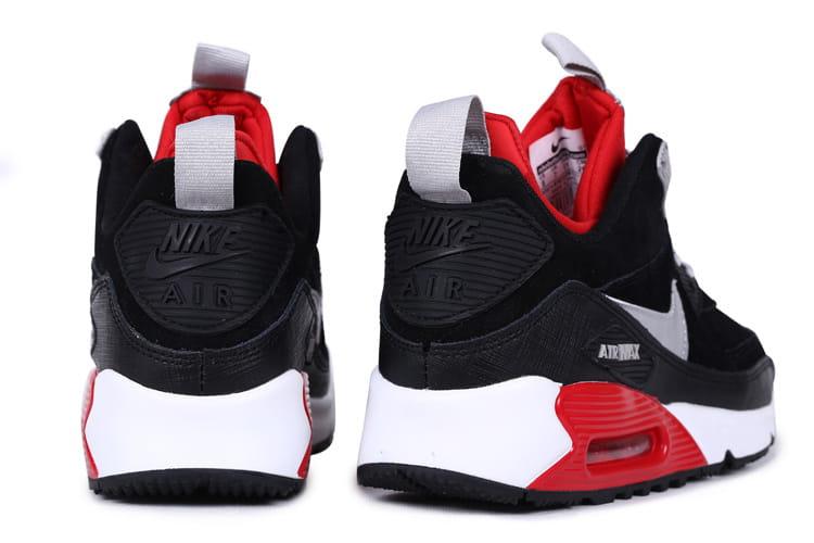 Nike Air Max 90 SneakerBoot PRM CzarneCzerwoneBiałe
