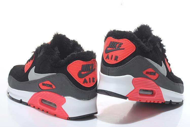 Nike Air Max 90 Winter CzarneSzareCzerwone